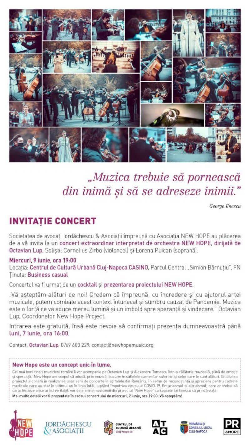 Invitație concert NEW HOPE - Octavian Lup
