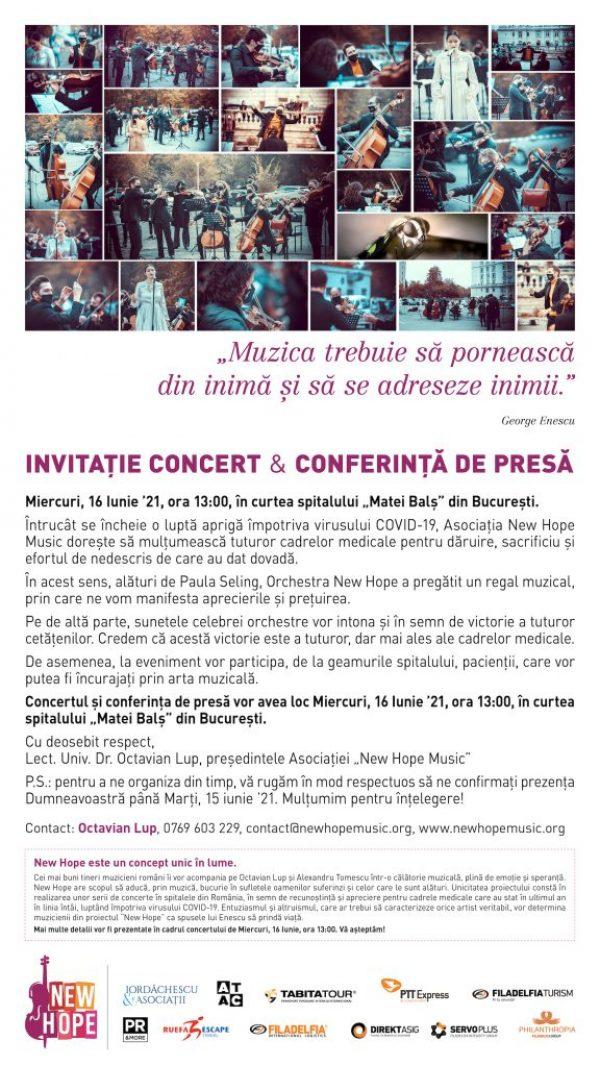 Invitație concert New Hope - Octavian Lup 2